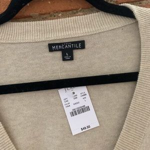 J. Crew Factory Sweaters - NWT - J. Crew Mercantile - Cotton V-neck Sweater